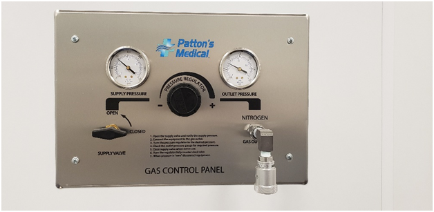 Patton's Medical gas control panel for nitrogen