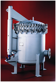A vertical pressure container. Courtesy: Buckeye Fabricating