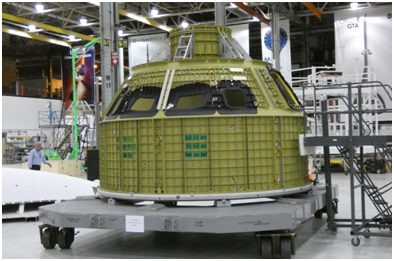 The crew module pressure vessel for NASA's first crewed Orion spacecraft. Source: NASAspaceflight.com