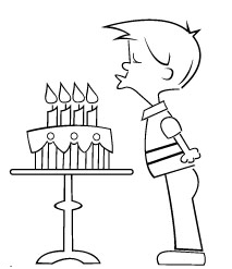 Blowing Out the Candles (Birthday) | MakingArtFun.com